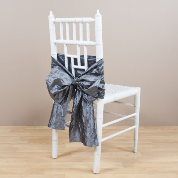 Crushed Pewter Chair Tie