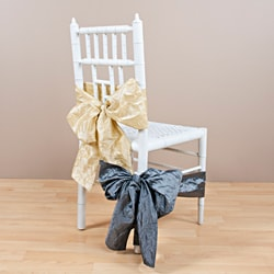 Crushed Champagne Chair Tie
