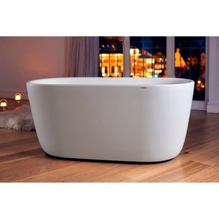 Aquatica Lullaby-Wht Freestanding Solid Surface Bathtub