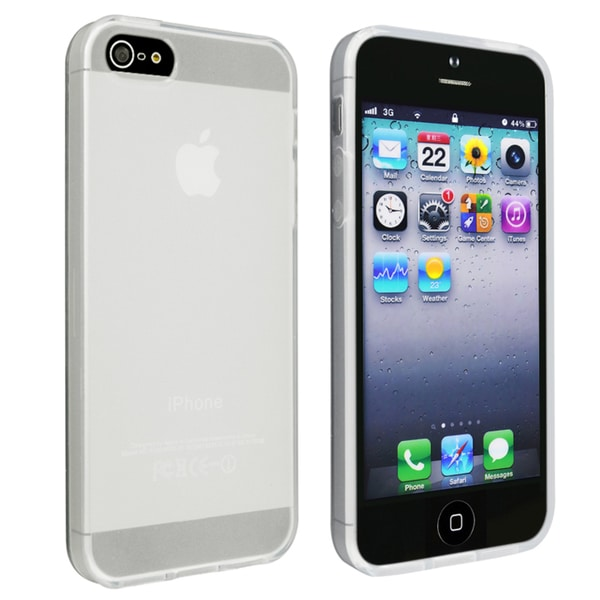 INSTEN Frost Clear White TPU Phone Case Cover for Apple iPhone 5/ 5S/ SE