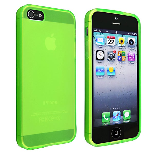 INSTEN Frost Clear Green TPU Phone Case Cover for Apple iPhone 5