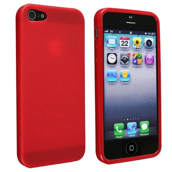 INSTEN Red Skin Veins TPU Case Cover for Apple iPhone 5