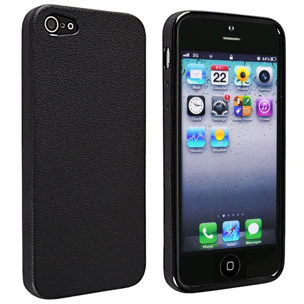 INSTEN Black Skin Veins TPU Phone Case Cover for Apple iPhone 5