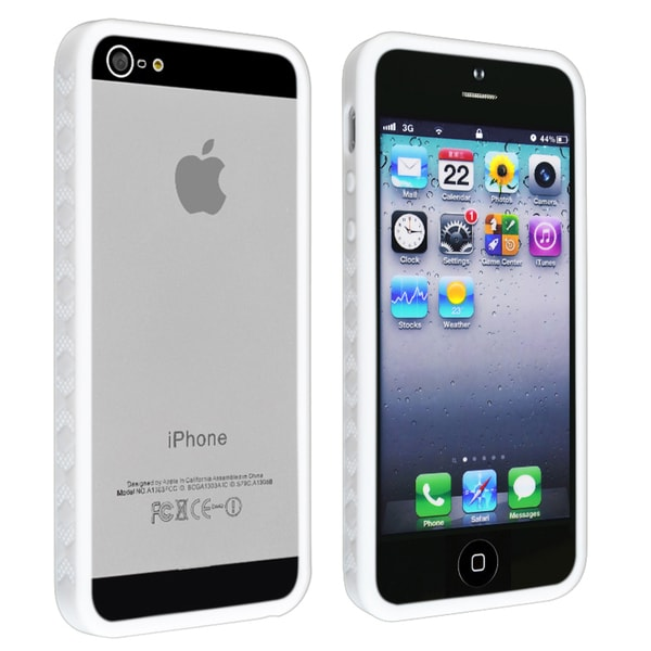 INSTEN White Bumper TPU Phone Case Cover for Apple iPhone 5