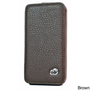 Kroo Apple iPhone 4/4S Leather Protector Case (Option: Brown)