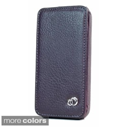 Kroo Apple iPhone 4/4S Leather Protector Case (Option: Purple)