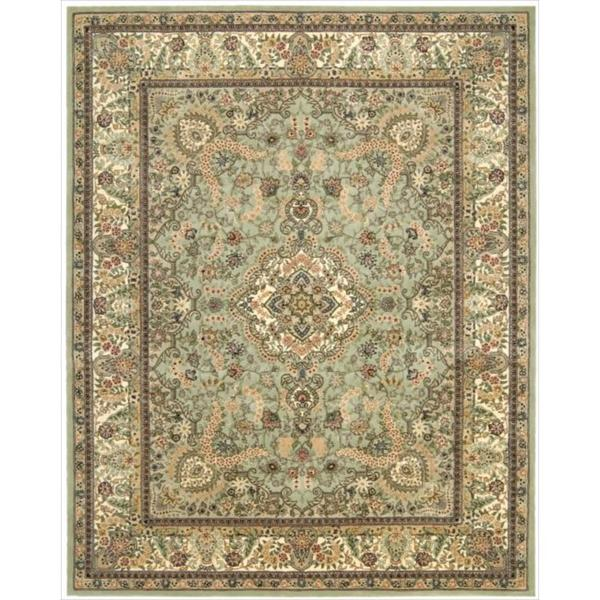 Nourison 2000 Hand-tufted Tabriz Light Green Rug (7'9 x 9'9)