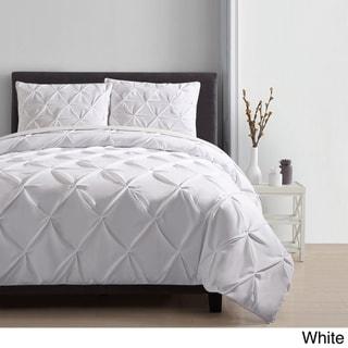 VCNY Carmen Pintuck 4-piece Comforter Set (Carmen Valance- White)