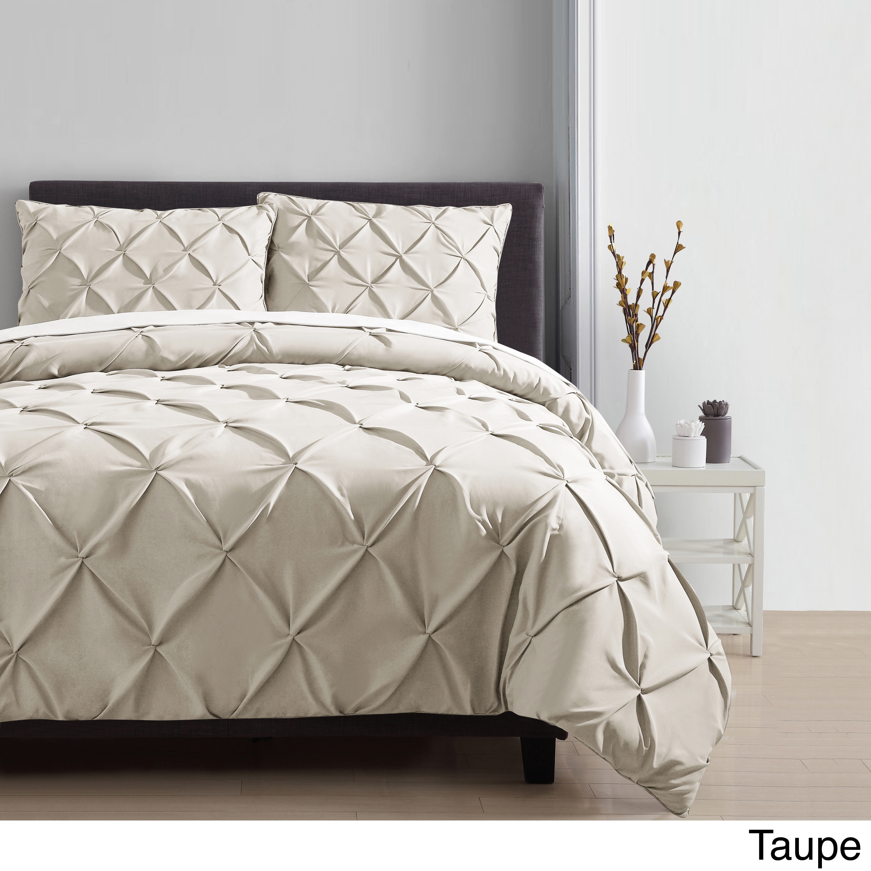 VCNY Carmen Pintuck 4 Piece Comforter Set (More Options Available)