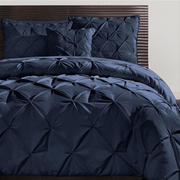 VCNY Carmen Pintuck 4-piece Comforter Set