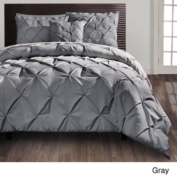 vcny carmen pintuck 4piece comforter set free shipping today