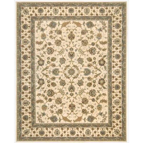 Nourison 2000 Hand-tufted Tabriz Ivory Rug (9'9 x 13'9) - 9'9 x 13'9