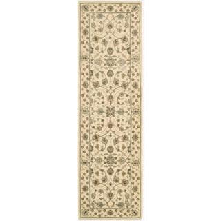 Nourison 2000 Hand-tufted Tabriz Ivory Rug (2'6 x 12)