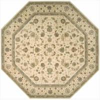 Nourison 2000 Hand-tufted Tabriz Ivory Rug (10 x 10) Octagon
