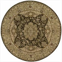 Nourison 2000 Hand-tufted Tabriz Chocolate Rug (6 x 6) Round - 6' x 6'