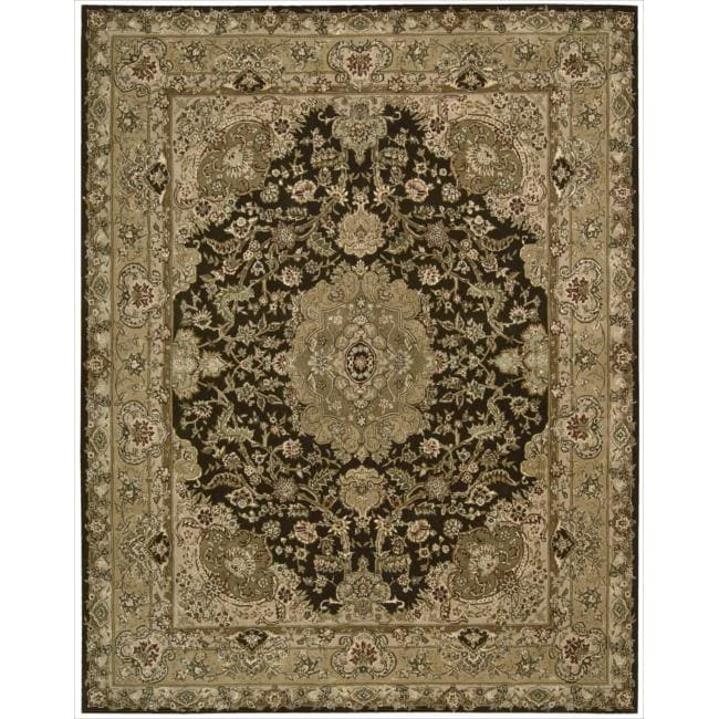 Nourison 2000 Hand-tufted Tabriz Chocolate Rug (5'6 x 8'6)