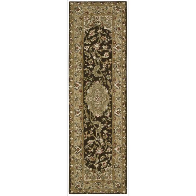Nourison 2000 Hand-tufted Tabriz Chocolate Rug (2'6 x 12)