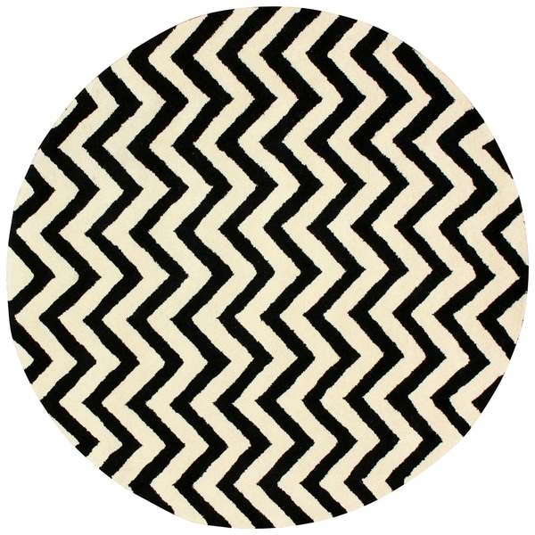 nuLOOM Hand-tufted Spectrum Chevron Wool Rug (6' Round)