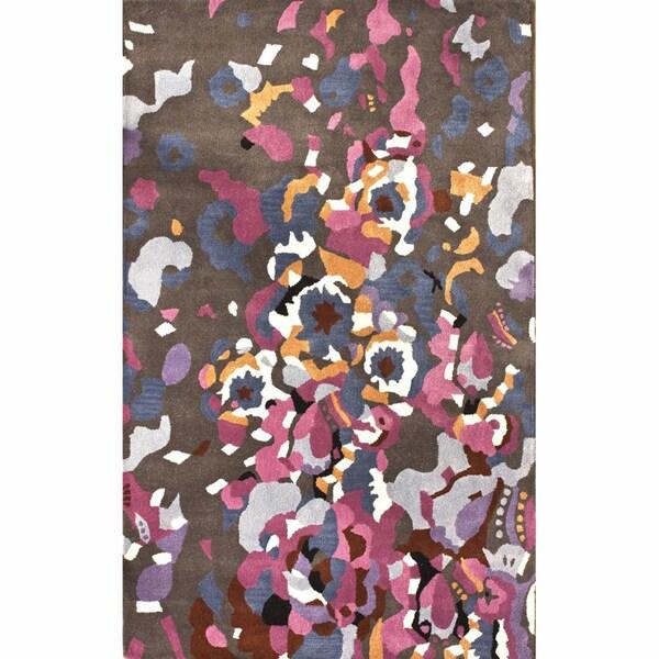 nuLOOM Handmade Confetti Multi Wool Rug (5' x 8')