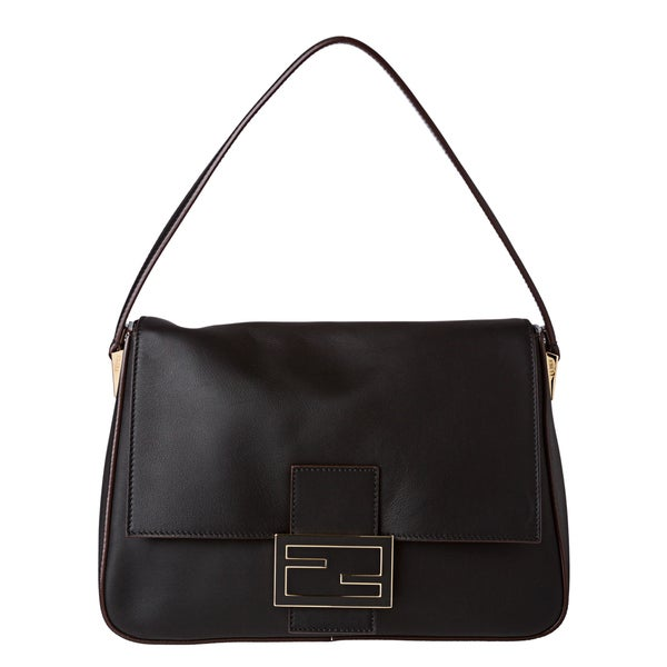 Fendi 'Forever' Black Big Mamma Shoulder Handbag