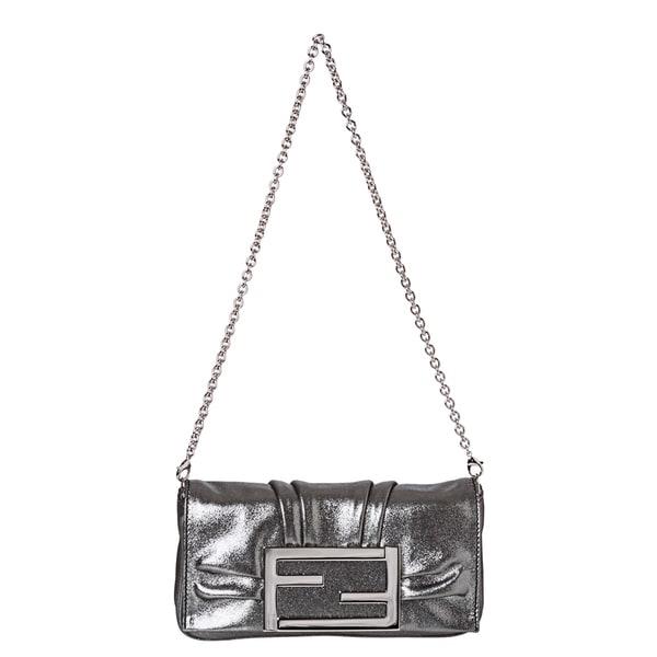 Fendi Metallic Silver Handbag