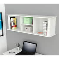Havenside Home Gion White Wall Mount Hutch Bookcase