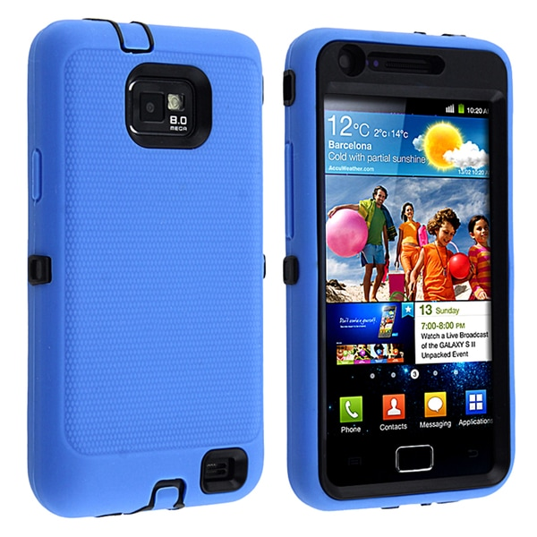 BasAcc Black/ Blue Hybrid Case for Samsung© Galaxy S II/ S2 i9100