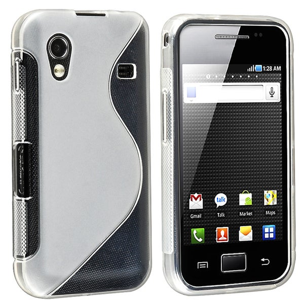 BasAcc White TPU Rubber Skin Case for Samsung© Galaxy Ace GT-S5830