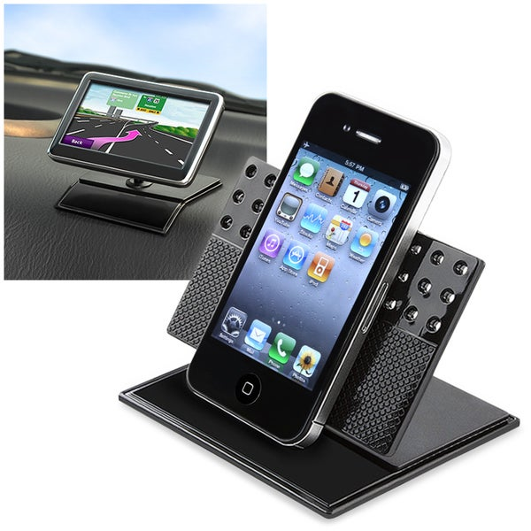 INSTEN Black Car Dashboard 360 Swivel Phone Holder