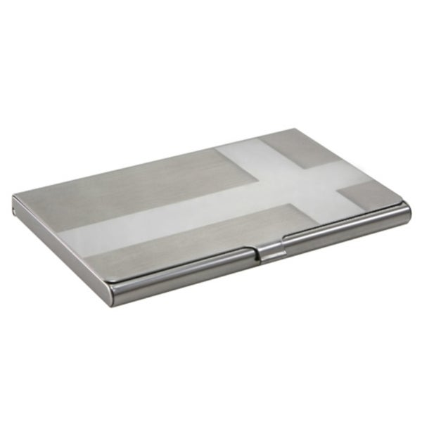 Zodaca Cross Silver Business Card Phone Case Cover