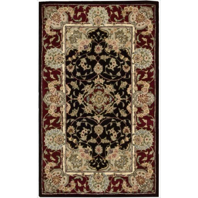 Nourison 2000 Hand-tufted Tabriz Black Rug (2'6 x 4'3)