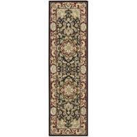 Nourison 2000 Hand-tufted Tabriz Black Rug (2'6 x 12)