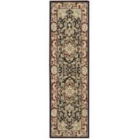 Nourison 2000 Hand-tufted Tabriz Black Rug (2'3 x 8)