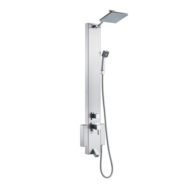 Blue Ocean 48 Inch Stainless Steel Shower Panel Tower With Rainfall Shower  Head