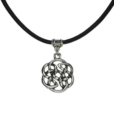 Handmade Jewelry by Dawn Celtic Knot Leather Necklace (USA)