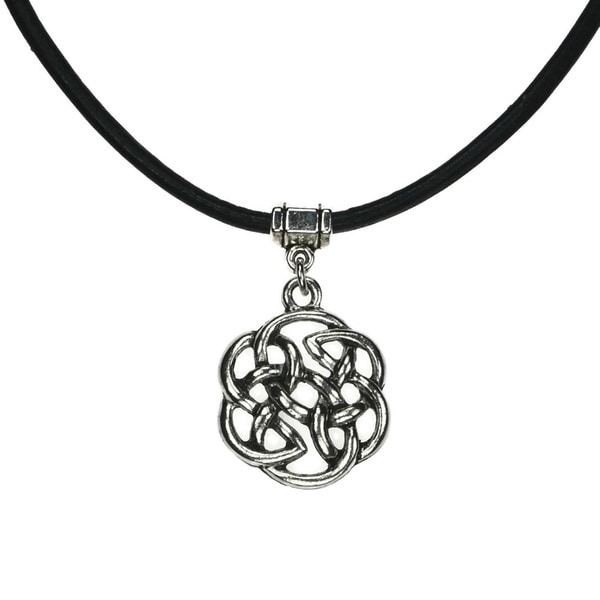 Shop Handmade Jewelry By Dawn Celtic Knot Leather Necklace Usa