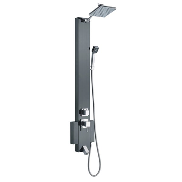 Blue Ocean 48-inch Stainless Steel Shower Panel Tower with Rainfall Shower Head