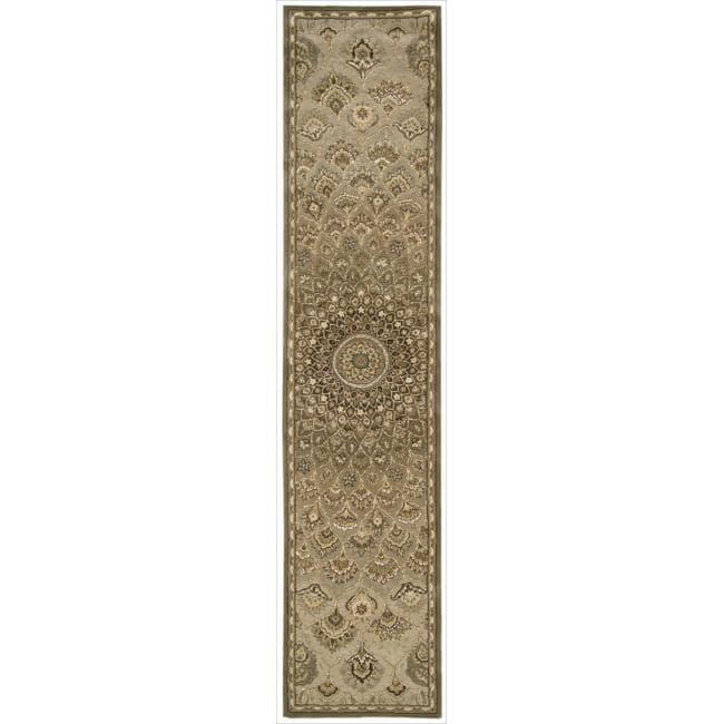 Nourison 2000 Hand-tufted Multi-colored Sunburst Rug (2'6 x 12)