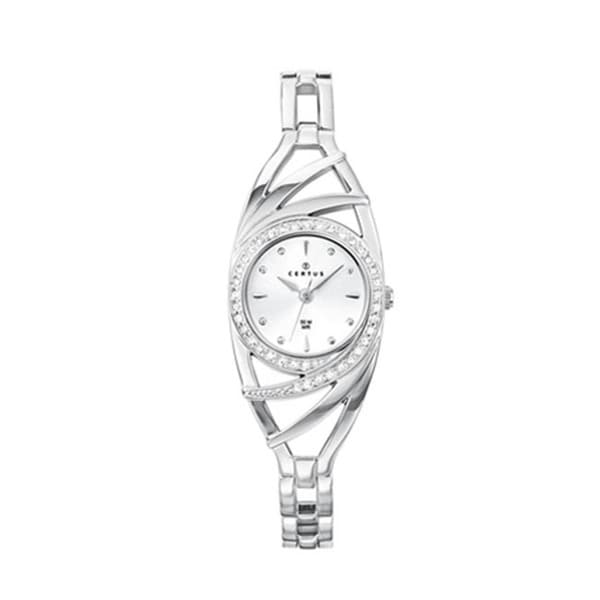 Certus Paris Women's Brass with Crystal's Silver Dial Watch