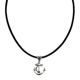 Jewelry by Dawn Unisex Anchor Greek Leather Necklace (2 options available)