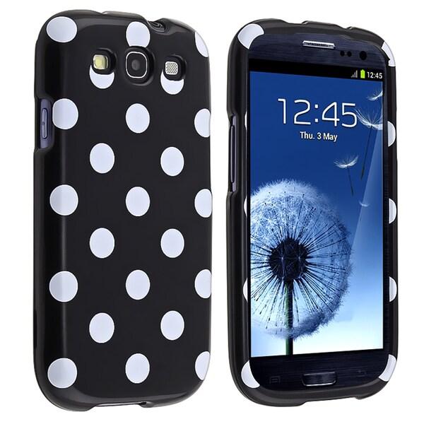 BasAcc Black/ White Polka Dots Case for Samsung Galaxy S III i9300