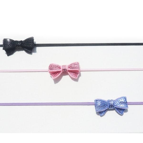 Mini Sequin Bow HeadBand (Set of 3)