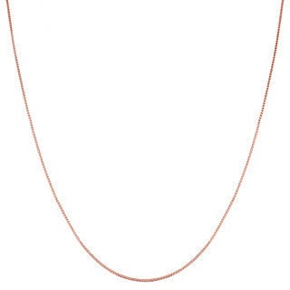 Fremada 14k Pink Gold Box Chain (16-20-inch)