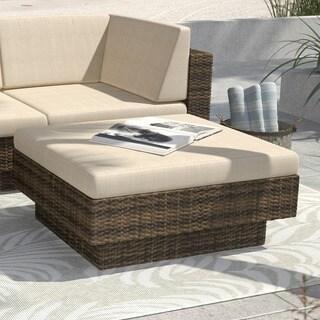 Sonax Saddle Strap Weave Park Terrace Ottoman