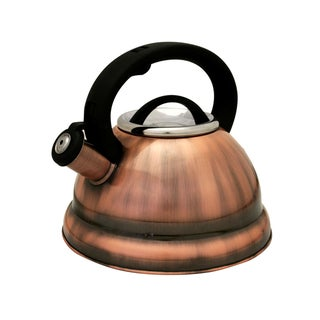 Prime Pacific Copper Finish 2.8-liter (3 Quart) Stainless Steel Tea Kettle