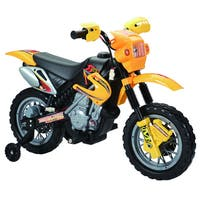 Happy Rider Yellow 6-volt Battery Operated Ride-on Dirt Bike