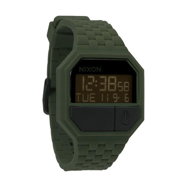 Nixon Men's Rubber Re-Run Matte Black/ Surplus Watch