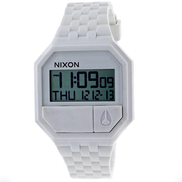 Nixon Men's Rubber Re-Run White Watch