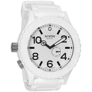 Nixon Men's White Rubber 51-30 Watch (Option: White) https://ak1.ostkcdn.com/images/products/7260922/7260922/Nixon-Mens-White-Rubber-51-30-Watch-P14738921.jpg?impolicy=medium
