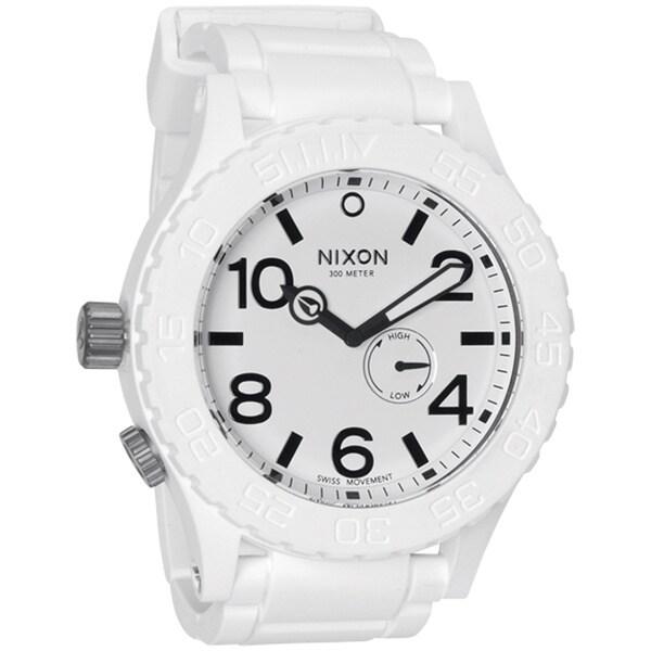 Shop Nixon Men's White Rubber 51-30 Watch